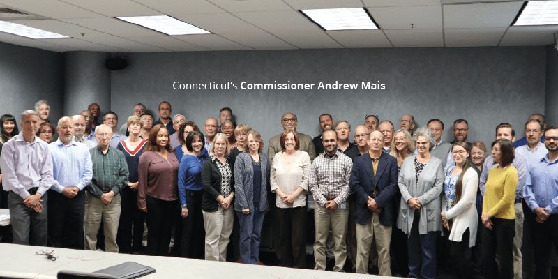 CT Commissioner Mais and members of the Accreditation Team
