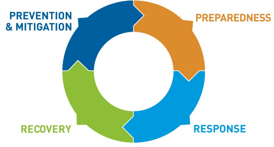 Disaster risk management cycle